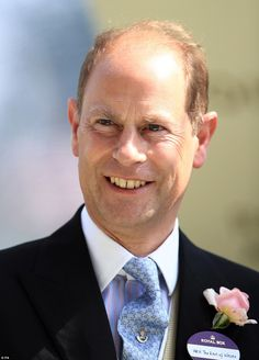 Prince Edward looked happy to be in attendance as he watched the 3.40 Duke of Cambridge St...