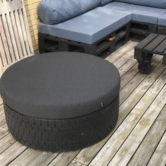 Outdoor Furniture, Outdoor Decor, Ottoman, Design, Home Decor, Upcycled Crafts, Garden Furniture Outlet, Interior Design, Home Interiors