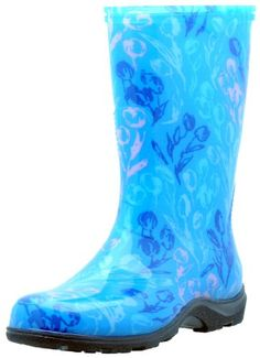 """Sloggers  Women's Rain and Garden Boot with """"All-Day-Comfort"""" Insole, Tulip Blue Print - Wo's size 8 - Style 5007TB08 Sloggers,http://www.amazon.com/dp/B00702EQVK/ref=cm_sw_r_pi_dp_2bWmtb07WVT5VBKN"""