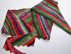 See Jayne Knit - what to do with silk hankies other than spin them.