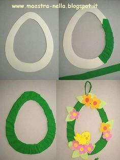 How to Make a Paper Plate Easter Egg Wreath - This colorful paper plate Easter Wreath is a simple and easy Easter Craft idea for kids of all ages to make. Cute DIY Easter decoration for home. Diy And Crafts, Arts And Crafts, Paper Crafts, Spring Crafts, Holiday Crafts, Diy Y Manualidades, Easter Art, Easter Projects, Easter Activities