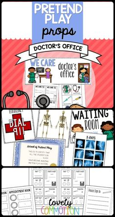 Create a doctor's office in your preschool drama center!  Encourage role-play, cooperation, writing and problem solve with this 'done for you' printable resource.