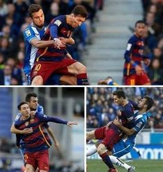 Właśnie tak rywale faulowali Leo w derbach Barcelony • Piłkarze Espanyolu wiedzą jak powstrzymać Lionela Messiego • Wejdź i zobacz >> #messi #lionelmessi #barca #fcbarcelona #barcelona #football #soccer #sports #pilkanozna