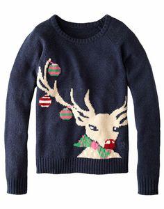 Now that's a Christmas jumper! Rampant Sporting Womens Reindeer Sweatshirt #joules #christmas #wishlist