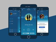 iOS App Design designed by GTC. Android App Design, Ios App Design, Android Apps, Lab Tech, Radio Wave, Application Design, Page Design, Design Inspiration, Mobile Ui