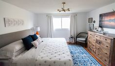 Master bedroom update with Rugs USA's Bosphorus Floral Symphony Rug! Master Room, Challenge Week, Rugs Usa, Challenges, Bedroom, Floral, Furniture, Home Decor, Room
