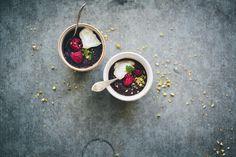 Pistachio and Fruit Pot de Creme