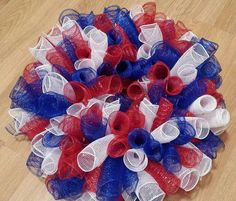 Fourth of July Wreath 4th of July American Flag by CoffeeGoingCold