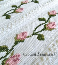 Beautiful Rosebuds Baby Afghan / new / by CrochetTreasures1