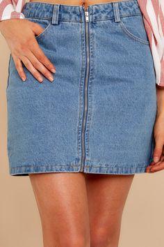 e18f452a9a7 Make Them Jealous Medium Wash Skirt. Denim ...
