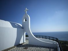 The church of Agia Sofia with the stunning Aegean Sea view in Esperos Resorts.