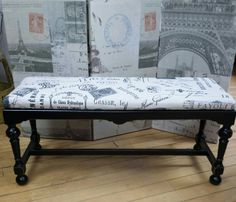 Long painted bench--perfect for foyer or at the end of the bed.