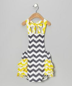 Take a look at this Navy & Yellow Zigzag Bubble Bodysuit - Infant by Tutus by Tutu AND Lulu on #zulily today!