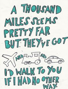A thousand miles seems pretty far