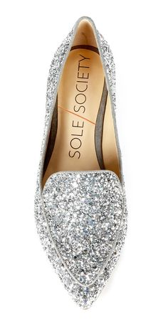 Glitter Loafers w/Pointed Toe