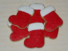 Christmas Stocking Sugar Cookies  1 Dozen by KimsCountryCorner