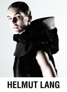 Hilary Rhoda - Helmut Lang F/W 13 Campaign  www.fashion.net