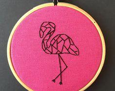 embroidery flamingo ile ilgili görsel sonucu
