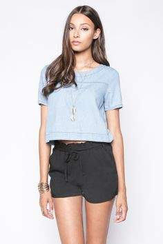90s Lullaby - SERENA BLACK SHORTS, $14.90 (http://www.90slullaby.com/shop/essentials/serena-black-shorts/)