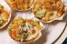 In Brazil we have a different species of crab, but I think the American variety, especially the Maryland blue, is one of the best in the world — meatier and sweeter. Because of this, I like to make this recipe (casquinha de siri) more often in the United States than in Brazil. I love to serve the crab in a seashell. Most of the time, I use scallop shells instead of the original crab shells, but if you don't have a sea creature shell available, just use a porcelain ramekin.