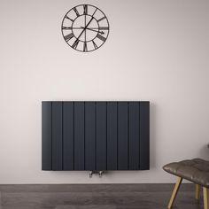 Smarten up your home's interior with the stylish Aurora anthracite designer radiator Decorative Radiators, Horizontal Designer Radiators, Window Types, Types Of Rooms, Interior Decorating, Interior Design, Wall Spaces, Modern Minimalist, Aluminium