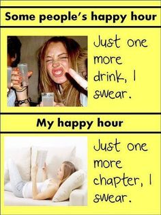 """If I had a nickel for every time I was at a bar thinking, """"I could be at home with a good book right now."""""""