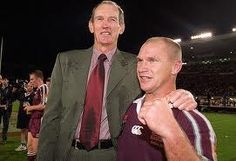 Two great men of Rugby League - Wayne Bennett and Allan Langer Queenslander, Rugby League, Soccer Players, Legends, Hat, Sports, Football Players, Chip Hat, Sport