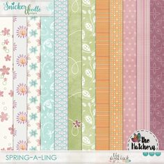 <p> Spring-a-Ling Digital Scrapbooking Papers 02 by SnickerdoodleDesigns</p>