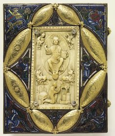 Gospel book,ivory.10th century  Cathedral Notre Dame du Saint Lambert,Lieja
