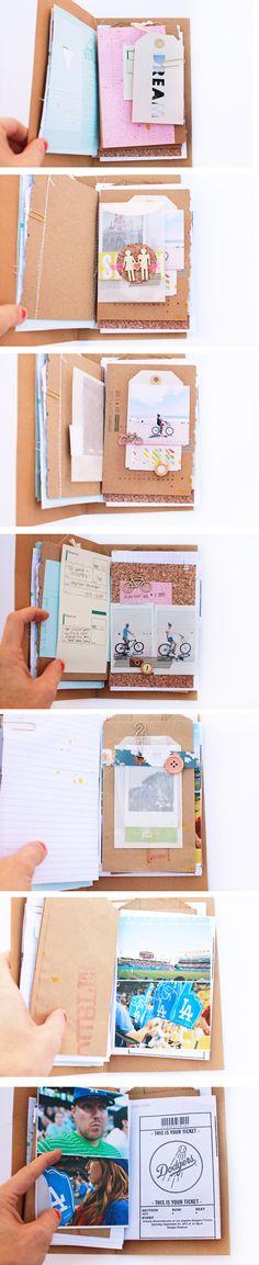 Let's Cuddle - Liz Kartchner  Me gusta el uso del corcho, como si fuera una página más del mini