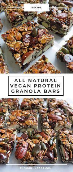 All natural protein granola bars recipe (vegan) | vegan recipe | healthy snack | healthy recipe | plant-based nutrition | vegan diet | plant-based recipe | easy recipe | healthy eating | vegetarian diet | vegetarian recipe | #vegan #granolabar