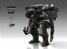Call of Duty: Infinite Warfare Concept Art by Aaron Beck Concept Art World, Robot Concept Art, Weapon Concept Art, Armor Concept, Futuristic Art, Futuristic Technology, Robot Militar, Cyberpunk, Cod Infinite Warfare