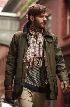 Plaid Scarf, Striped Shirt, Sport Jacket | Men's Fashion | Menswear | Men's Outfit Idea | Moda Masculina | Shop at DesignerClothingFans.com