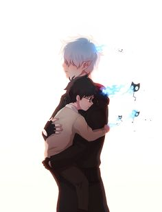 """vongrell: """"""""""""It's okay, I will protect you"""" """" Rin taking care of little Yukio who was crying because of demons??cuz why tf not """""""