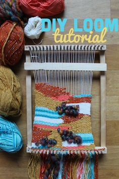 Make your own loom for weaving. For the simple, step by step tutorial with photos click through.
