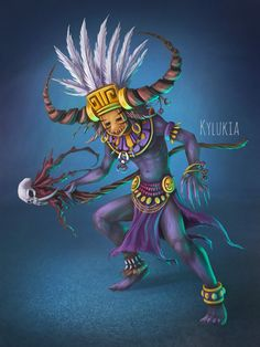 Witch Doctor, Kylukia Art on ArtStation at https://www.artstation.com/artwork/B3VgA