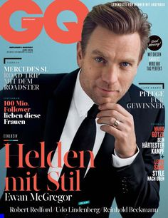 Promoting the Last Days in the Desert, where he portrays Jesus, Ewan McGregor covers the June 2016 issue of GQ Germany. The Scottish actor connects with photography duo Hunter & Gatti for the magazine's cover Ewan Mcgregor, Gq Mens Style, Gq Style, Scottish Actors, British Actors, Robert Redford, Mountain Man, Male Fashion Trends, Mens Fashion