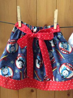 Custom Boutique Thomas the Train Blue Red by dreamdesignsdiane, $17.50