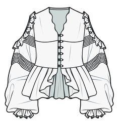 Illustration Mode, Fashion Illustration Sketches, Fashion Sketchbook, Fashion Design Sketches, Clothing Sketches, Dress Sketches, Flat Drawings, Fashion Art, Fashion Outfits
