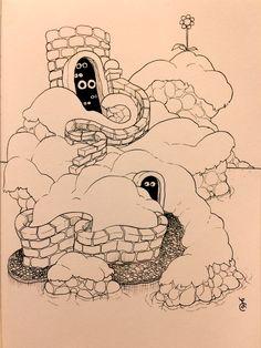 Little laundromat doodle. Shisland (shy island)