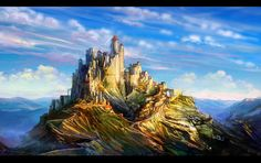 Unconquered castle by anndr.deviantart.com on @DeviantArt - the colors are beautiful, fab job