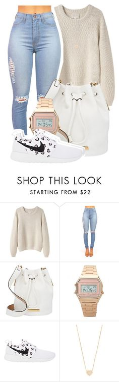 """I got two phones, one for the plug and one for the load"" by mindlesspolyvore ❤ liked on Polyvore featuring La Garçonne Moderne, Marc by Marc Jacobs, NIKE and Michael Kors"