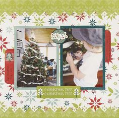 O Christmas Tree Nordic Christmas Scrapbook Layout Project Idea from Creative Memories - Limited Edition product - through December 2012!
