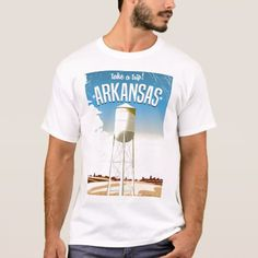 Shop Arkansas Vintage Travel poster T-Shirt created by bartonleclaydesign. Personalize it with photos & text or purchase as is! Arkansas Vacations, Arkansas Usa, Travel Themes, Vintage Travel Posters, Fitness Models, Casual, Mens Tops, T Shirt, Retro