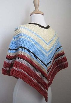 Ravelry  Easy-Crochet Poncho pattern by Kathy North Plymouth Yarn a85924849d