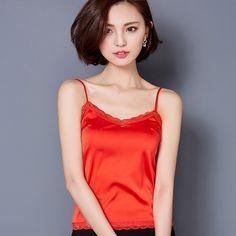 Summer Tank Top Women Sexy Sleeveless V Neck Silk Basic Tops Blusas Casual Plus Size Vest Camisole Crop Tops Women 2016 A289 #Fashion #Sleeveless
