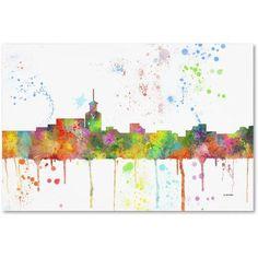 Trademark Fine Art Santa Fe New Mexico Skyline Mclr-1 inch Canvas Art by Marlene Watson, Size: 12 x 19, Multicolor