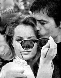 """Romy Schneider & Alain Delon on the set of """"La Piscine, Romy Schneider, Alain Delon, Paris, Nathalie Portman, Isabelle Adjani, Cinema, Actrices Hollywood, Famous Couples, Picture Frames"""