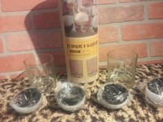 Refinery Ice Sphere Glass Set 6 Piece NEW Canister Whiskey Vodka Craft Cocktails #Refinery