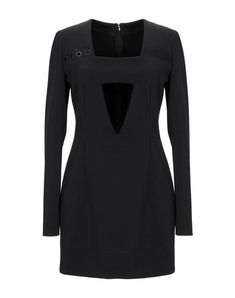 Anthony Vaccarello Short Dress In Black Short Dresses, Dresses For Work, Anthony Vaccarello, Square Necklines, Long Sleeve, Sleeves, Fashion Design, Shopping, Color
